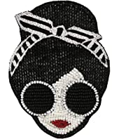 Alice + Olivia - Stace Face with Headband Beaded Brooch