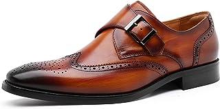 [フォクスセンス] ビジネスシューズ 革靴 ドレスシューズ 本革 モンクストラップ ウイングチップ 紳士靴 メンズ