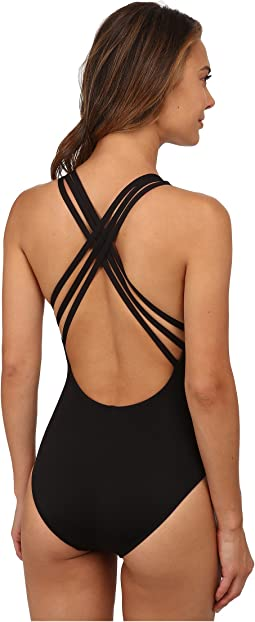 La Blanca - Island Goddess Multi Strap Cross-Back Mio One-Piece