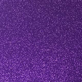 Purple Glitter Cardstock - 10 Sheets Premium Glitter Paper - Sized 12