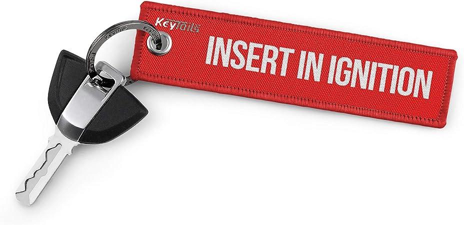 Keytails Premium Qualität Motorrad Schlüsselanhänger Schlüsselring Kratzfest Ideal Für Ihr Motorrad Auto Insert In Ignition Auto