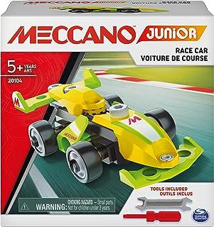 MECCANO - MES PREMIÈRES CONSTRUCTIONS MECCANO JUNIOR - Voiture de course, Moto, Hélicoptère ou Bulldozer - Jeu de Construc...