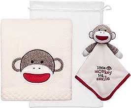 Baby Starters 2-Piece Sock Monkey Snuggle Buddy and Blanket Set