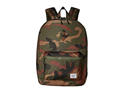 Herschel Supply Co. Kids Heritage Youth XL Backpack (Youth) (Woodland Camo) Backpack Bags