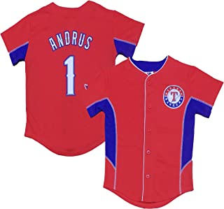 Elvis Andrus Texas Rangers Red Youth Team Leader Jersey