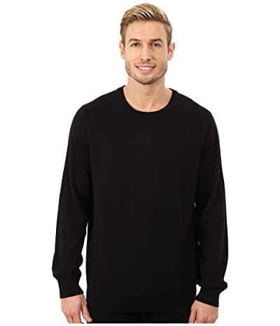 Nautica Solid Crew Neck Sweater (True Black) Men