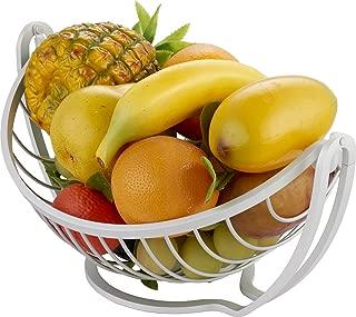 Surpahs Aluminum Countertop Fruit/Vegetable Basket Display Stand (Metallic Silver)