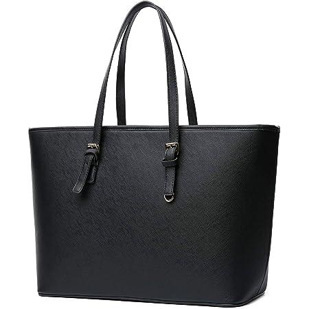 Vanessa & Melissa Damen Shopper klassisch Elegante Handtasche Henkeltasche Tasche Schwarz