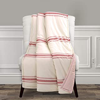 Lush Decor Farmhouse Stripe Throw Blanket, 60