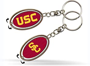 Rico NCAA Southern California Spinner Keychain Sports Fan Keychains, Multicolor, One Size