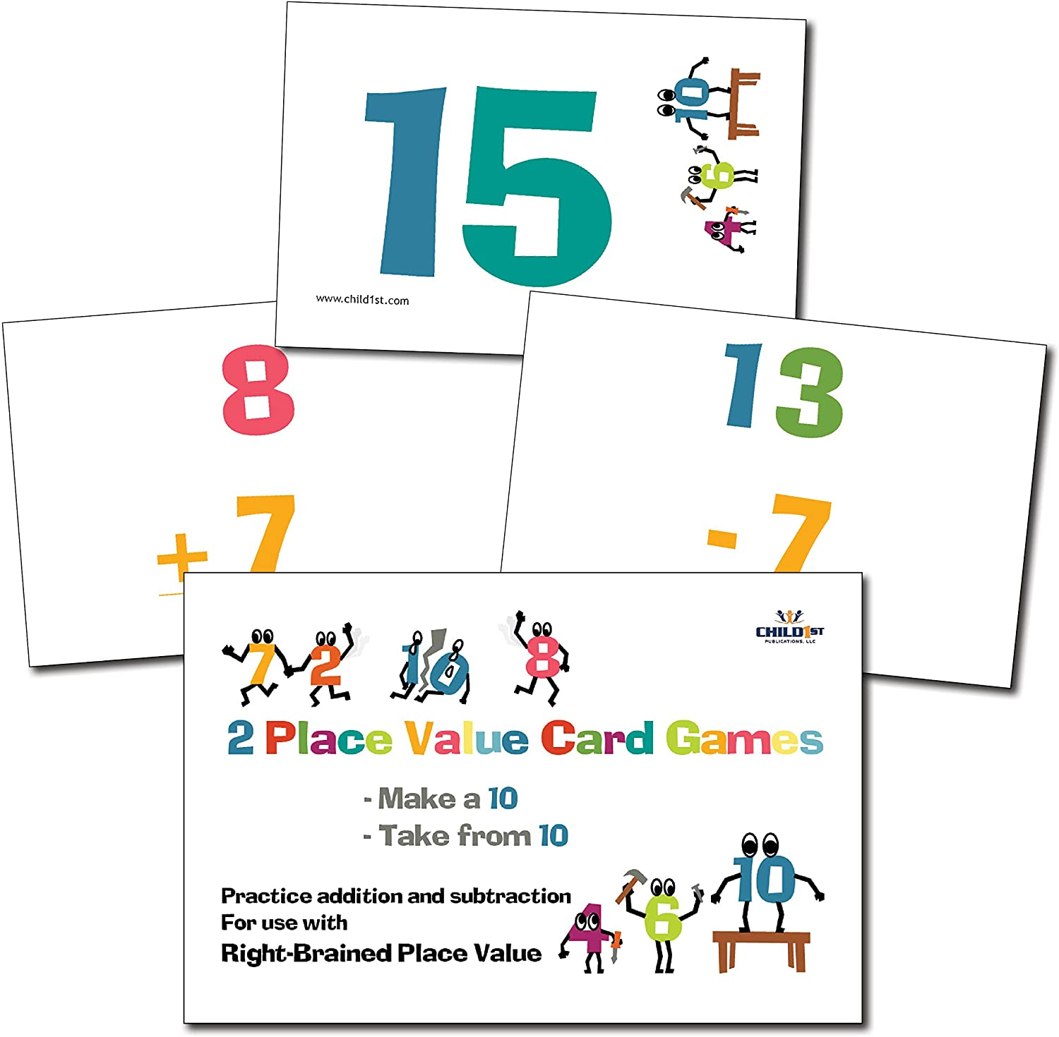 RightBrained Place Value Adding & Subtracting 10s Cards