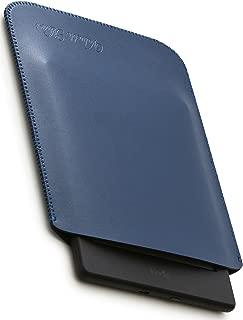 V.M kindle / Paperwhite / Voyage / Oasis スリーブ ケース レザー [高品質高性能] 軽 薄 皮 革 キンドル ペーパーホワイト スリーブケース 純正 スリップイン スリップ カバー ペーパー ホワイト Paperwhiteケース ネイビー ブルー KindlePaperwhite 青 艶消