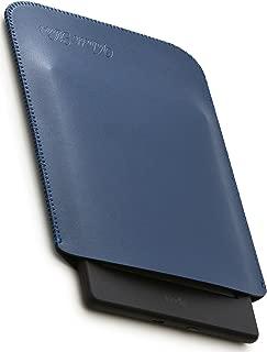 V.M kindle / Paperwhite / Voyage / Oasis スリーブ ケース レザー [高品質高性能] 軽 薄 皮 革 キンドル ボヤージュ スリーブケース 純正 スリップイン スリップ カバー キンドルVoyage スリップインケース Voyageケース ネイビー ブルー KindleVoyage 青 艶消
