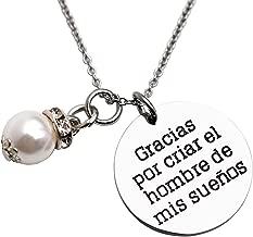 LParkin Spanish Mother of The Groom Necklace Gracias Por Criar El Hombre De Mis Suenos Mother in Law Necklaces Gift Jewelry
