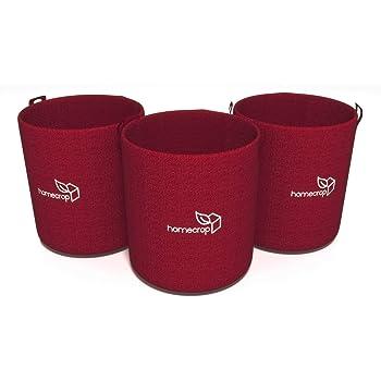 Homecrop Fabric Grow Bag for Terrace Garden - Smart Plant Grow Bags (12 * 12 inch) - Set of 3