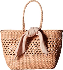 Edith Woven Leather Mini Tote