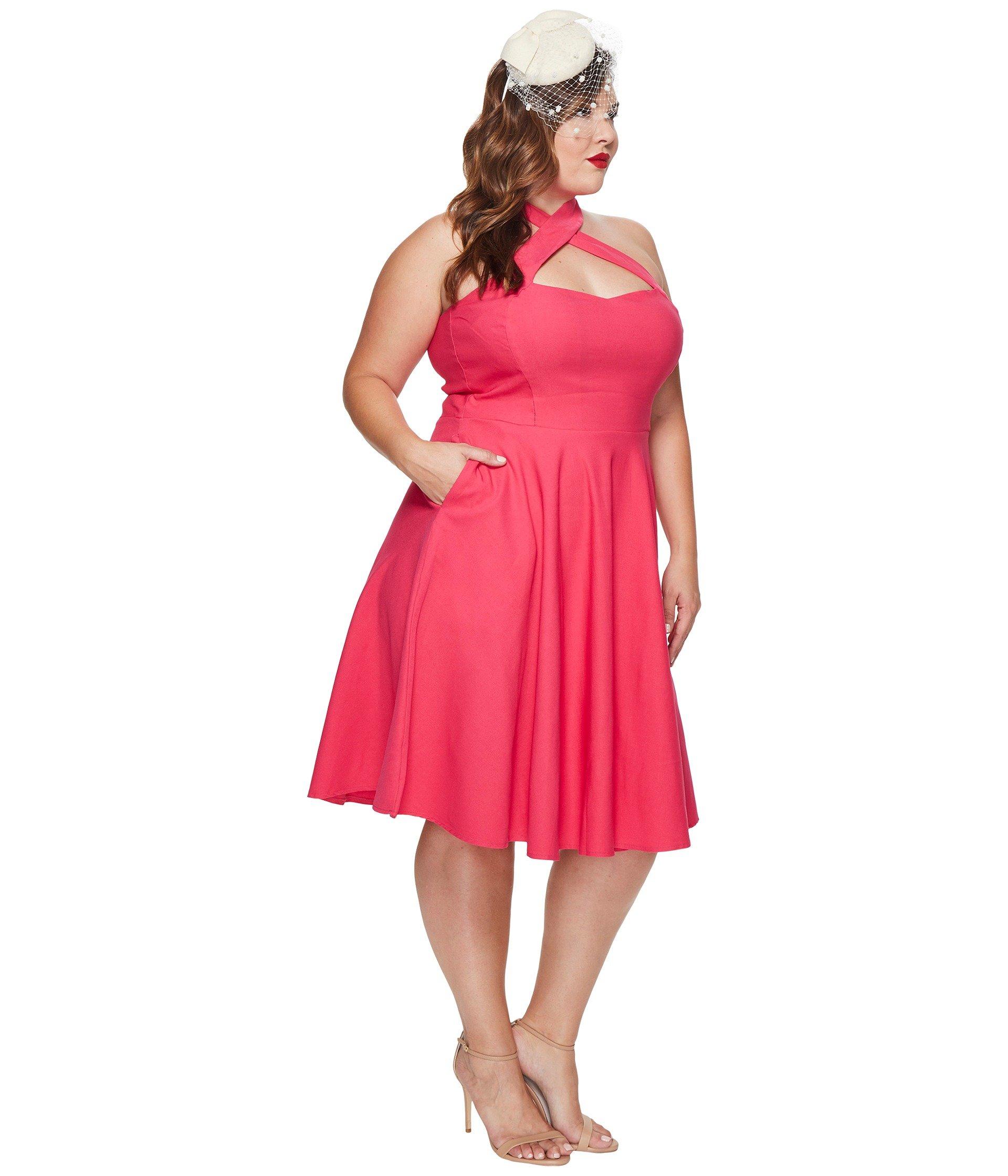 unique vintage plus size rita flare dress at 6pm