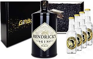 Hendricks Gin Tonic Set/Geschenkset  Hendricks Gin 0,7l 700ml 44% Vol.  4x Thomas Henry Tonic Water 200ml - Inkl. Pfand MEHRWEG