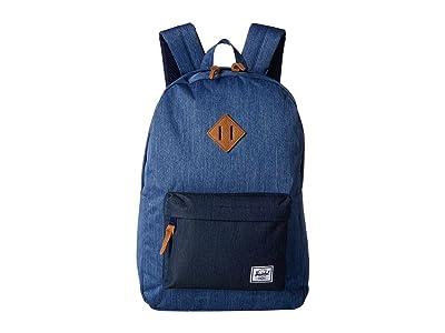 Herschel Supply Co. Heritage (Faded Denim/Indigo Denim) Backpack Bags