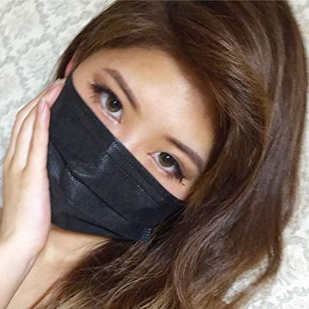 黒マスク 4層不織布マスク 個別包装 男女兼用 ブラックマスク PM2.5対応 PFE99%以上 活性炭フィルター【5枚入】