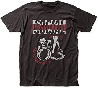 Social Distortion Ball and Chain Tour Fitted Jersey tee