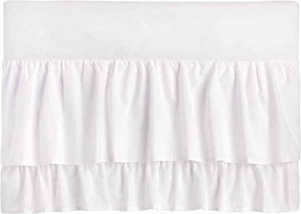 Little Love Two Tiered Crib Skirt White