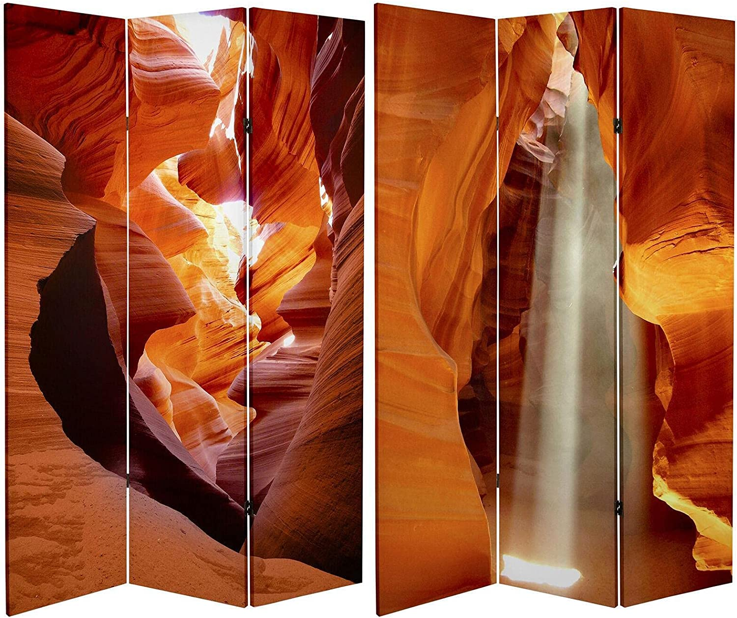 6 ft. Tall Double Sided Painted Divider Desert Room Canvas Home Large-scale sale Time sale