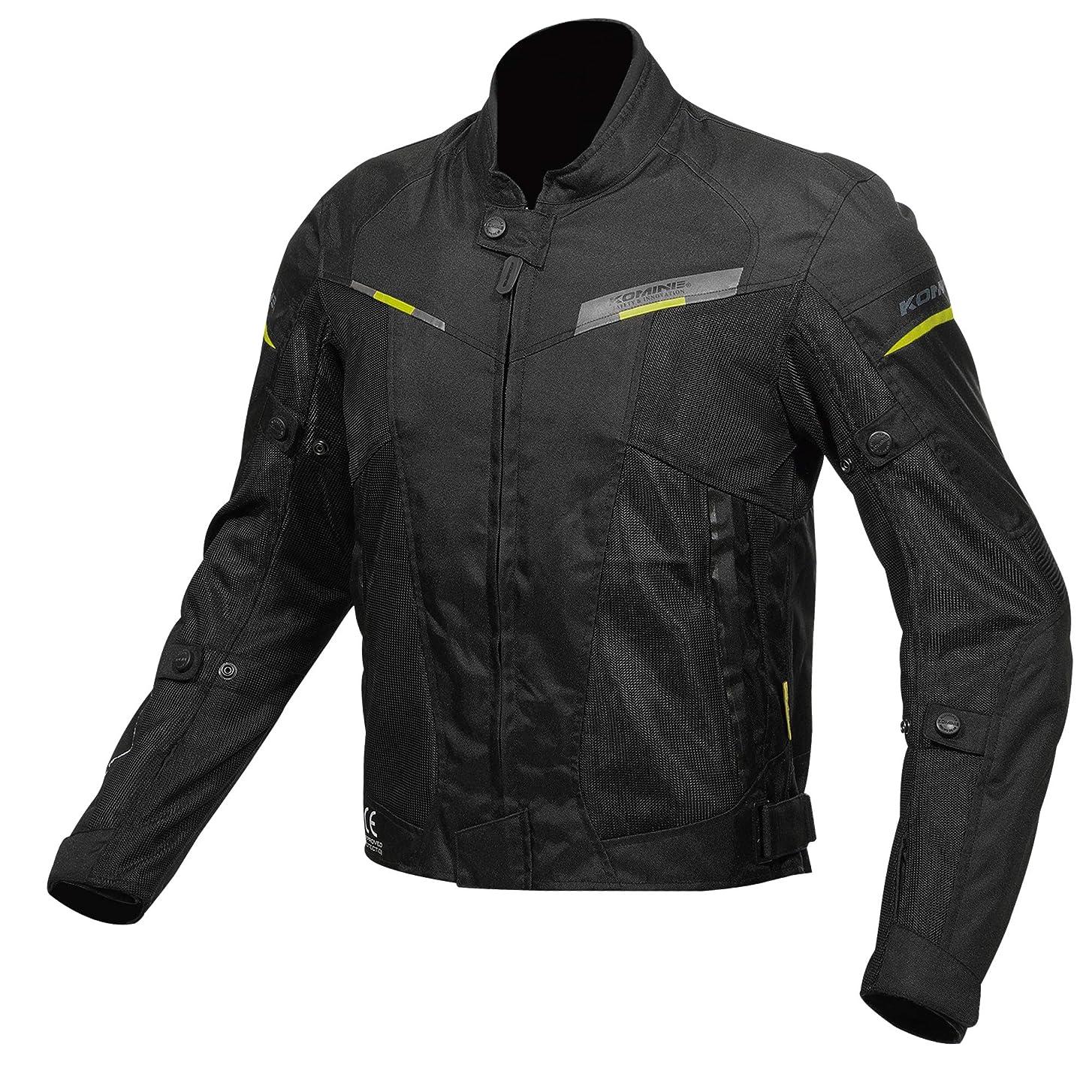 暖炉浸食出発するコミネ KOMINE バイク プロテクト ハーフ メッシュ ジャケット アウター プロテクター 通気性 Black XL JK-141 07-141