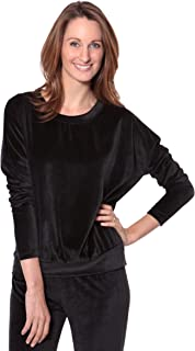 Women's Velour Long Sleeve Top - Luxury Sleepwear for Her by Texere (Zahra)