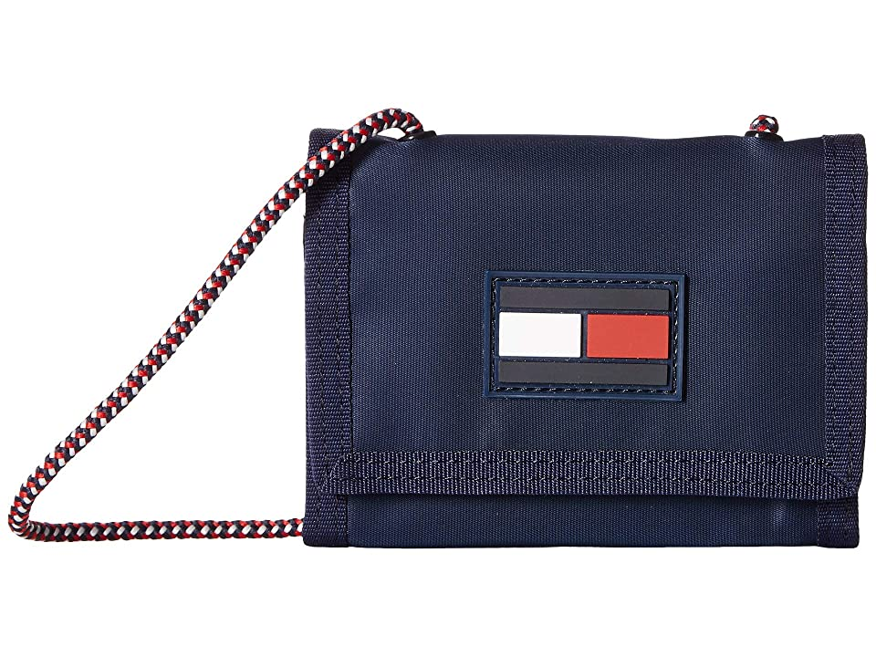 Tommy Hilfiger Leah Trifold Wallet (Tommy Navy) Wallet Handbags