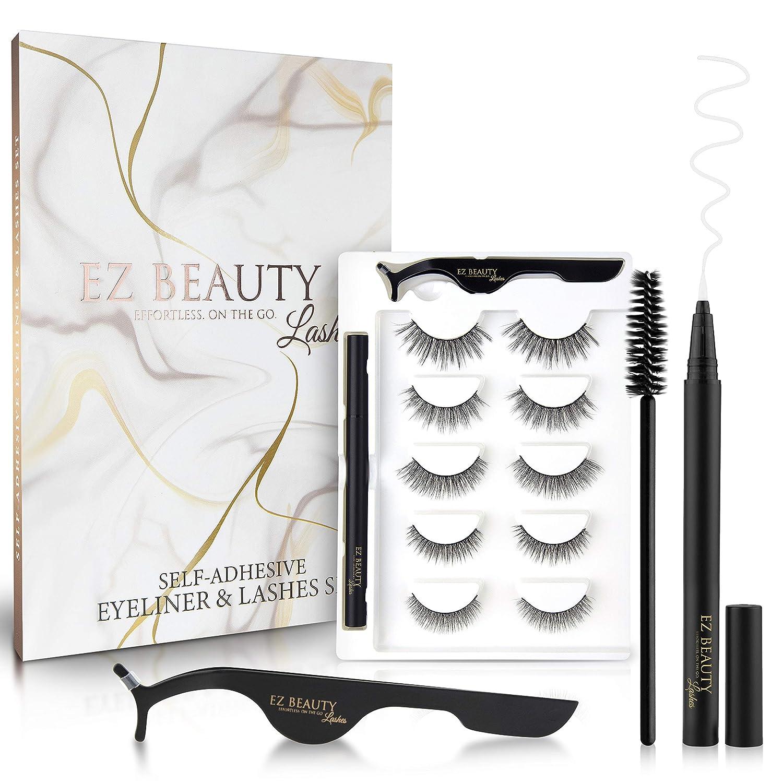 EZ BEAUTY Self Adhesive shipfree Eyeliner and Magnetic low-pricing Non Kit Eyelashes