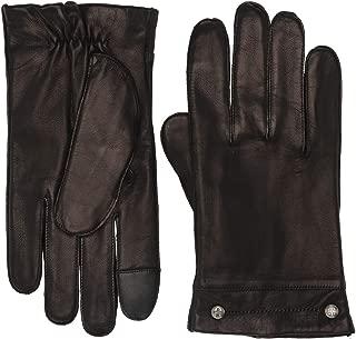 Frye Goatskin Phillips Head Studded Gloves Black XL