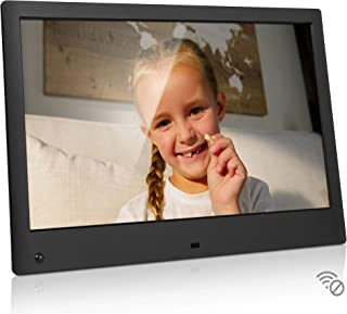 NIX Advance 13 Inch USB Digital Photo Frame - Full HD IPS Display, Auto-Rotate, Motion Sensor, Remote Control - Mix Photos and Videos in The Same Slideshow
