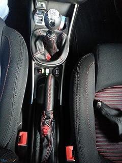 Alfa Romeo mito cuffia cambio e freno nera con ricami rossi