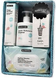 Suavinex - Canastilla Cosmética para Bebé Recién Nacido/Canastilla de Regalo para Bebé, Color Azul