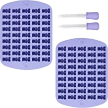 Rosanna PANSINO by Wilton 2-Piece 45-Cavity Silicone Gummy Bear Candy Molds, Multi-Pack of 2