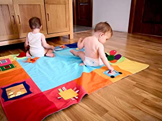 Tantino Toys Baby Play Mat Montessori Play Mat Activity Gym Playmat Nursery Game Mat Tummy Time Mat Infant Activity Toy Learn