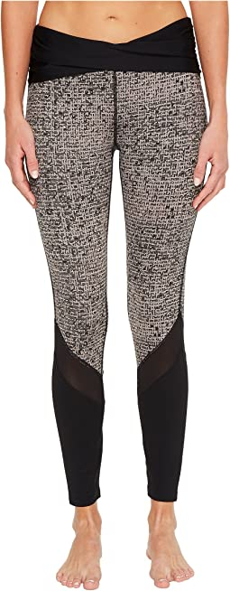Ivanka Trump - Texture Print Rouching Active Leggings