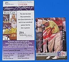 John Daley Signed 1991 Pro Set Golf Card #179 ~ T05384 ~ - JSA Certified - Autographed Golf Cards