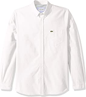 Lacoste Men's Long Sleeve Oxford Button Down Collar Regular Fit Woven Shirt, CH4976