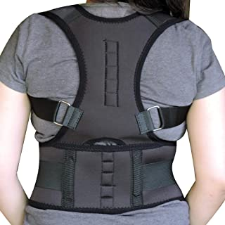 HealthGoodsIn - Adjustable Magnetic Posture Corrector to Improve Posture and Correct Slouching | Posture Support to Reliev...