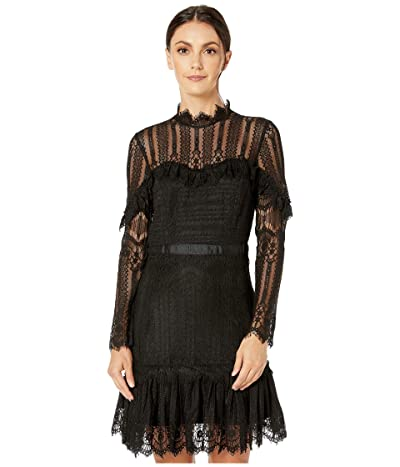 Bardot Tessie Lace Dress (Black) Women