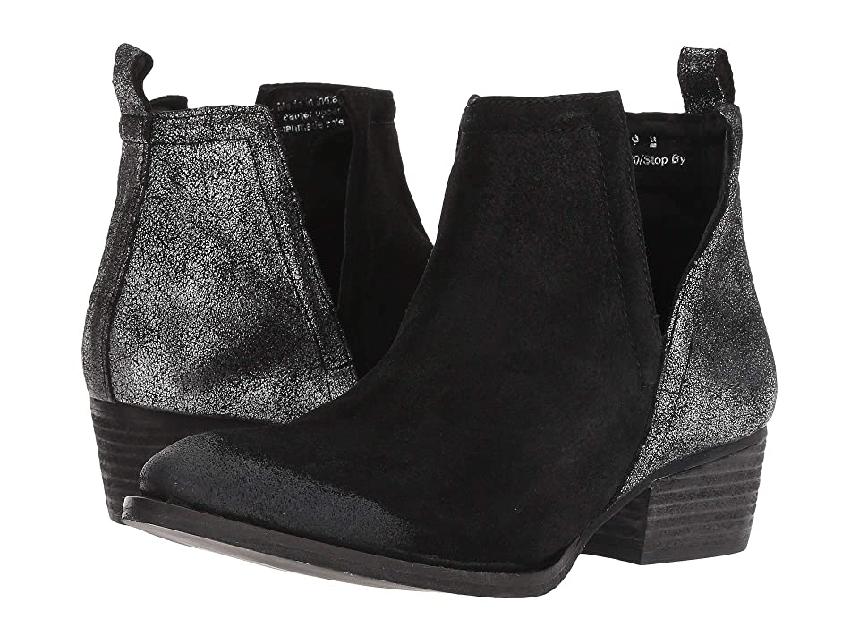 Diba True Stop By (Black/Pewter Suede/Leather) Women