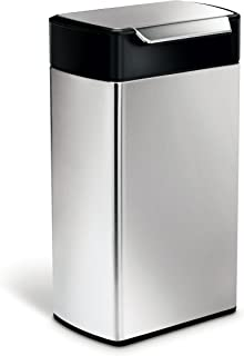 simplehuman Touch Bar Bin, 40 L - Brushed Stainless Steel