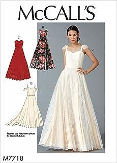 Mccall's Patterns 7718 A5,Misses Dresses,Sizes 6-14, Tissue, Multi-Colour, 17 x 0.5 x 0.07 cm