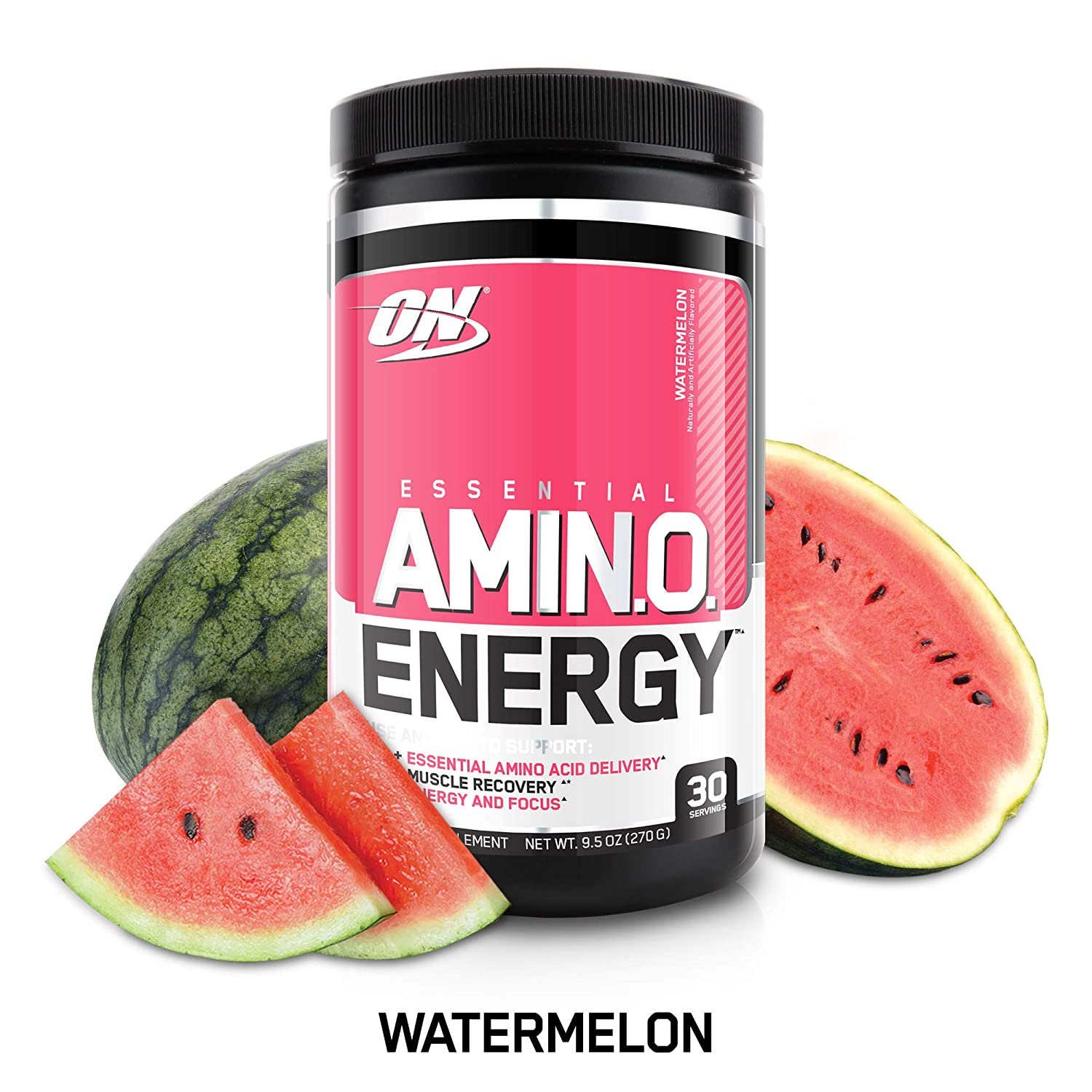 OPTIMUM NUTRITION ESSENTIAL AMINO ENERGY, Watermelon, Keto Friendly Preworkout and Essential Amino Acids with Green Tea and Green Coffee Extract, BCAA Powder, 30 Servings slvidq5009031