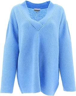 GANNI Luxury Fashion Womens K1261AZUREBLUE697 Light Blue Sweater   Fall Winter 19