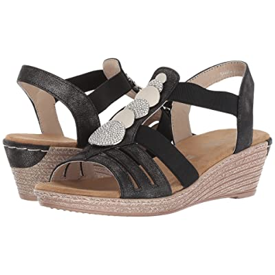 PATRIZIA Shprinza Wedge Sandal (Black) Women