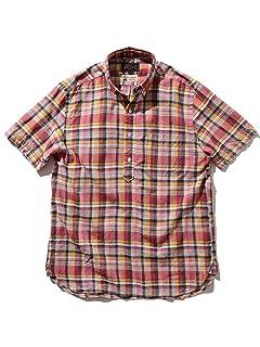 Beams Plus Madras Short Sleeve Popover Buttondown Shirt 11-01-1216-139