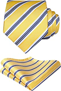 Panuelo de corbata a rayas Banquete de boda Conjunto de corbata y bolsillo para hombre